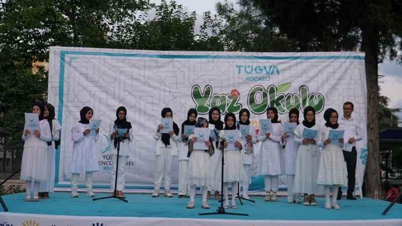 TÜGVA Yaz Okulu'ndan öğrencilere katılım belgesi