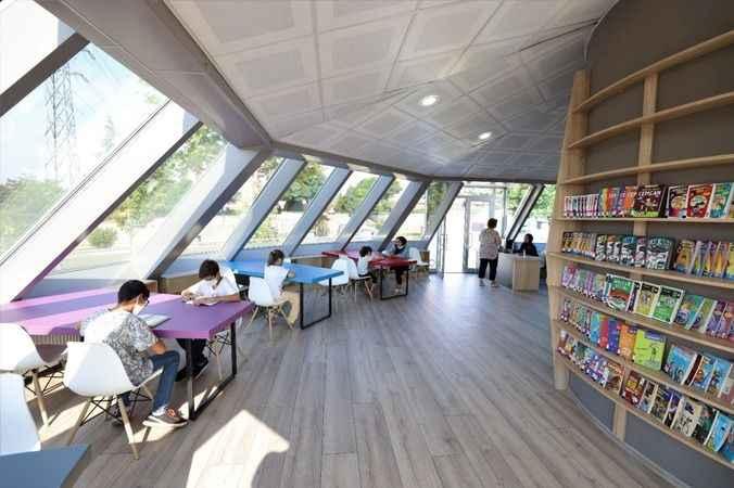 Başiskeleli çocuklar  bu kütüphaneyi çok sevdi