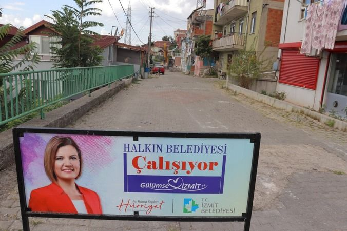 İzmit Belediyesinden Zabıtan'a beton yol