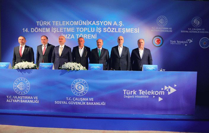 Türk Telekom toplu sözleşmeyi imzalardı