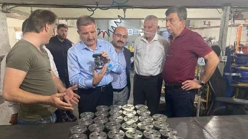 Vekil Şeker ve Başkan Acay Darıca'yı turladı
