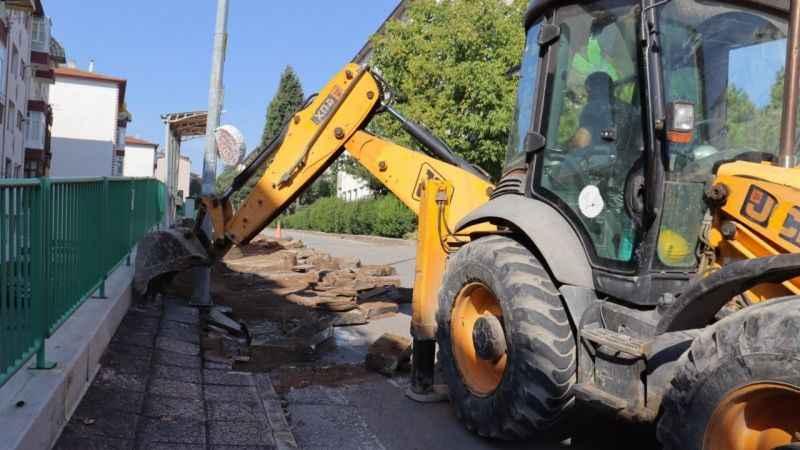 Şirintepe Mahallesi Bora Sokak'takaldırımlar yenileniyor
