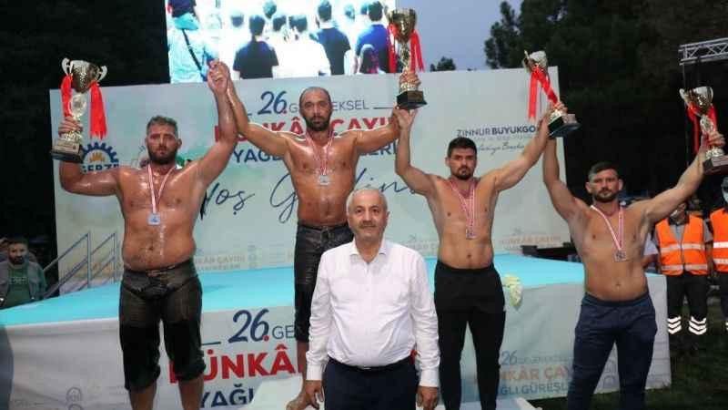 Hünkar Çayırı Güreşleri'nin Şampiyonu: Ali Gürbüz