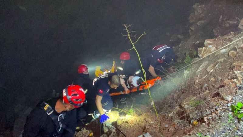 UTV 40 metreden uçuruma yuvarlandı