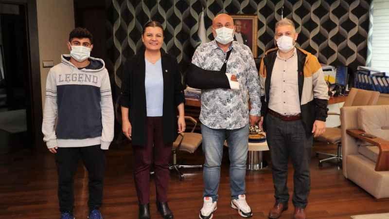 Başkan Hürriyet, GültepeSpor'u ağırladı