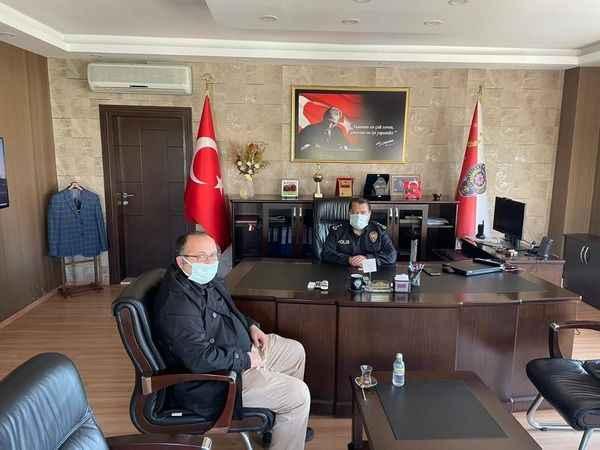 Arpalı Köyü Derneği'nden  Körfez Emniyet Müdürü'ne ziyaret