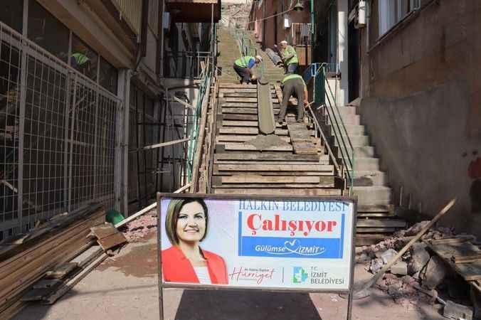 İzmit Belediyesinden Doğan ve Cedit'e yeni merdiven