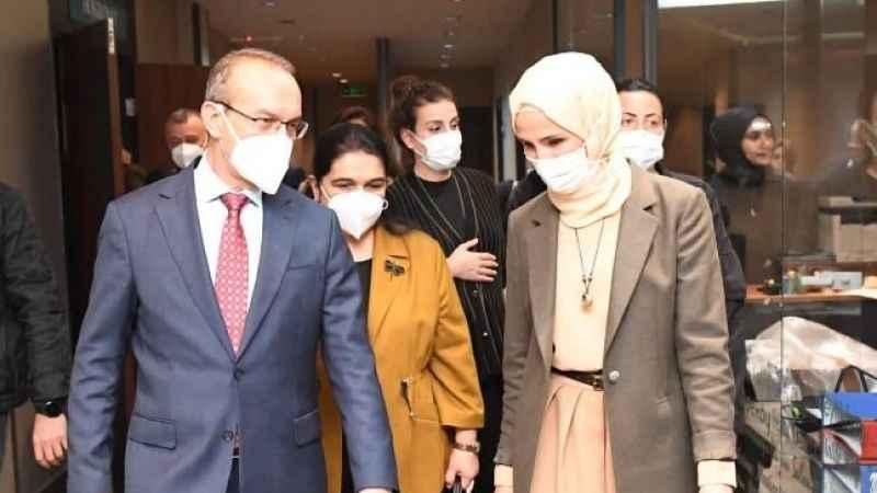Sümeyye Erdoğan'a devlet protokolü
