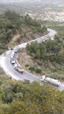Maden TIR'ı devrildi: 1 yaralı