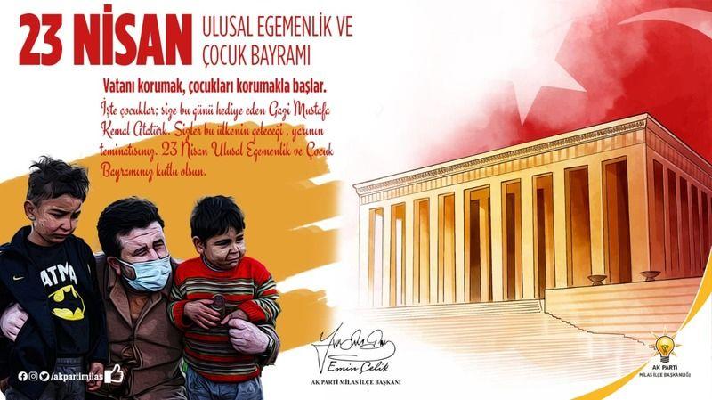 23 Nisan Ulusal Egemenlik ve Çocuk Bayramını kutladılar