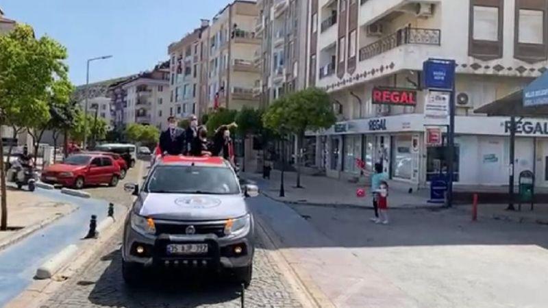 Milas Belediyesi'nden 23 Nisan Konvoyu
