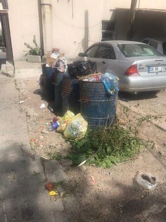 Vatandaşlar çöplerin toplanmamasına tepkili!