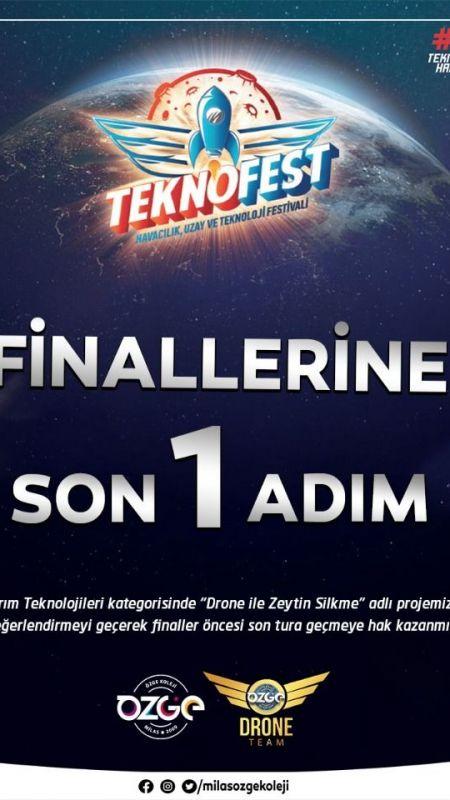 Zeytin Silken Drone projesi Teknofest'te son turda