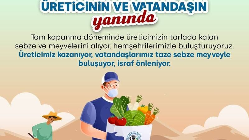 Milas Belediyesi, üreticinin ürünlerini alacak