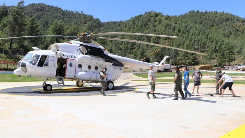 Yangın helikopteri Milas'ta göreve başladı