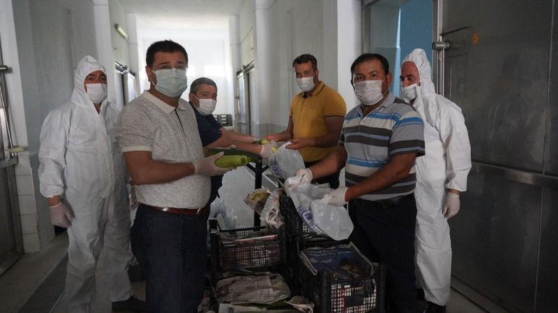 İhtiyaç sahiplerine ulaştırılacak ürünler teslim alınmaya başlandı