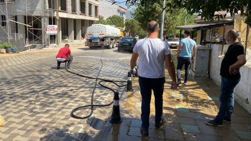 Milas Belediyesi temizlik ve dezenfekte çalışmalarını sürdürüyor