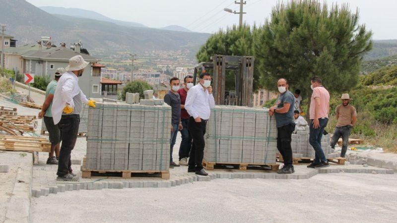Milas Belediyesi ekipleri parke çalışmalarına devam ediyor