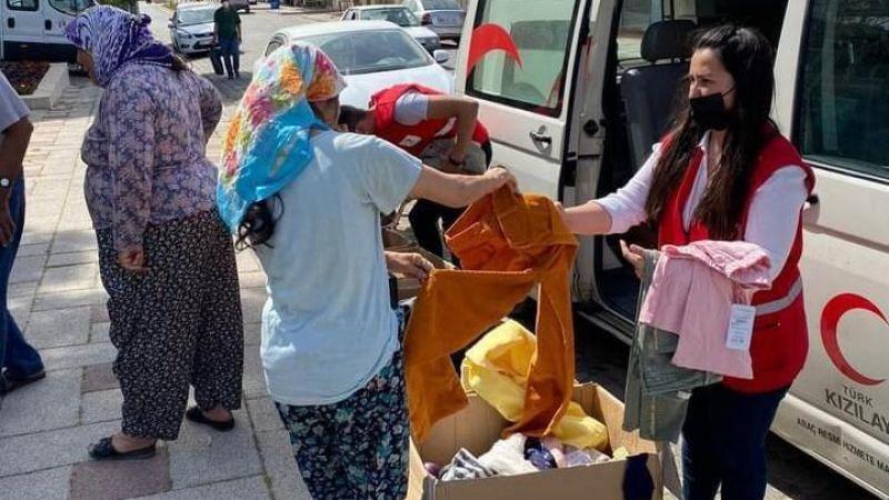 Önce yardımlar ulaştırıldı sonra ramazan pidesi dağıtıldı