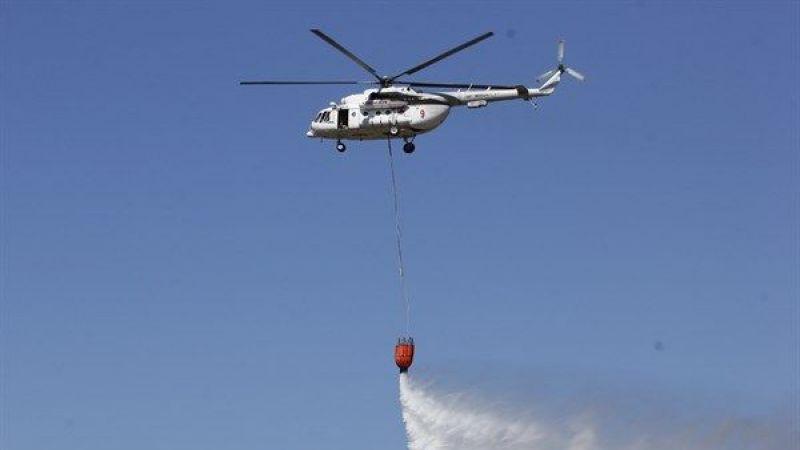 Yangın helikopteri havadayken arıza verdi