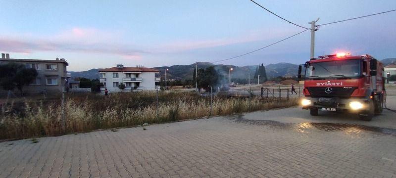 Milas'ta 2 ayrı noktada ot yangını