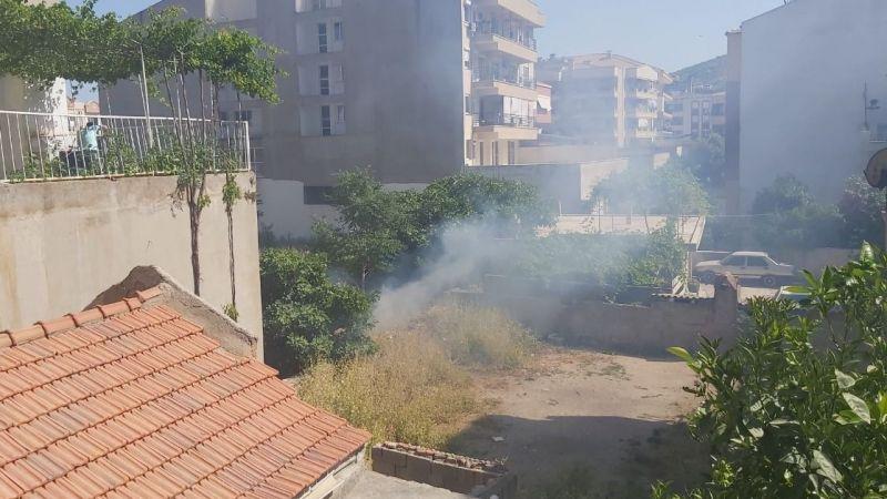 Sigara izmariti yangın çıkardı
