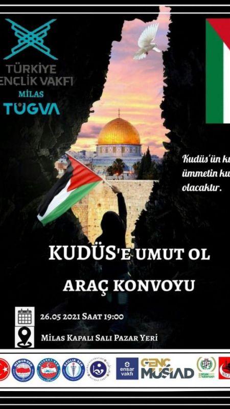 TÜGVA Filistin'e destek konvoyu düzenleyecek