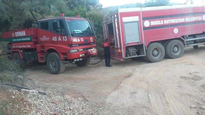 Çökertme yangını 8 saatin ardından kontrol altına alındı