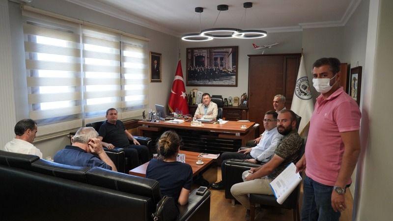 Başkan Tokat DSİ yetkilileri ile görüştü
