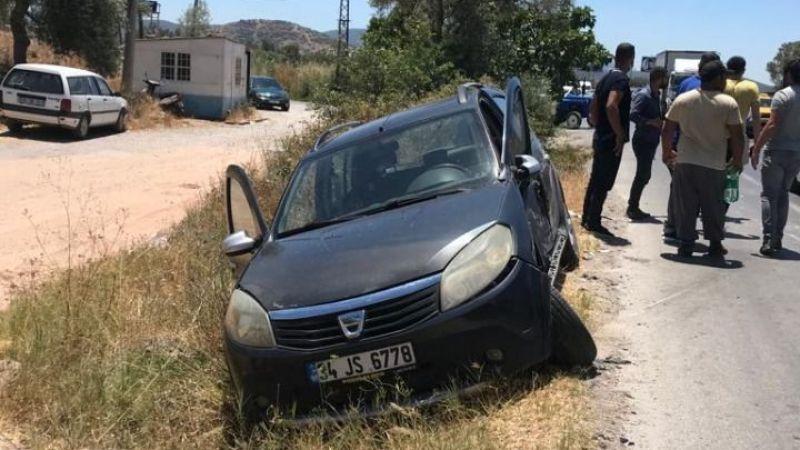 Milas'ta kavşakta kaza: 2 yaralı
