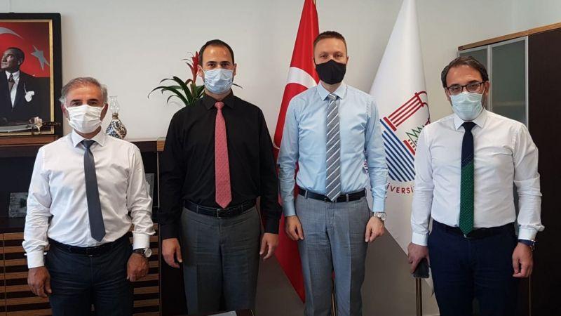 Kaymakam Böke'den Rektör Yardımcısı Prof. Dr. Yağcı'ya ziyaret