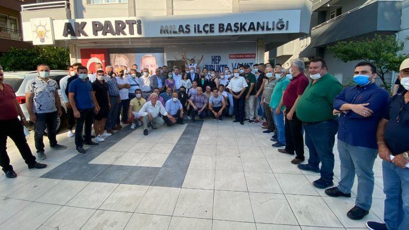 AK Parti'ye Milas'ta coşkulu katılım