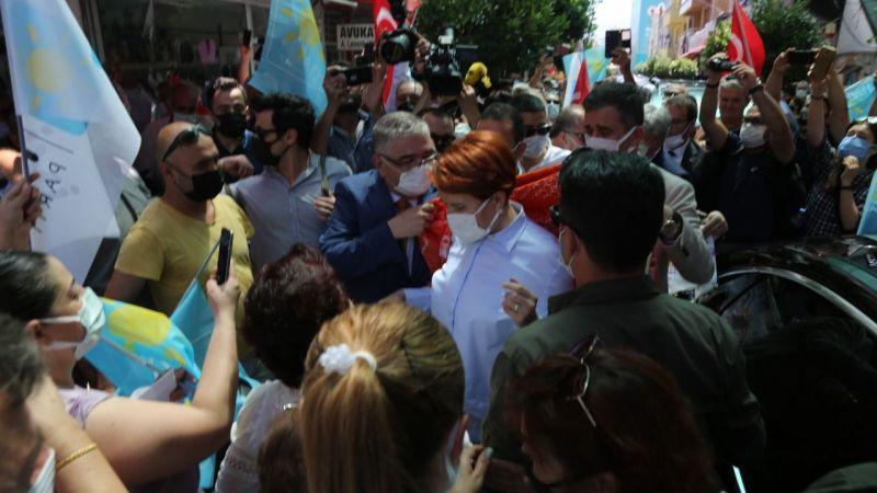 Akşener'in esnaf ziyaretinde darp iddiası!