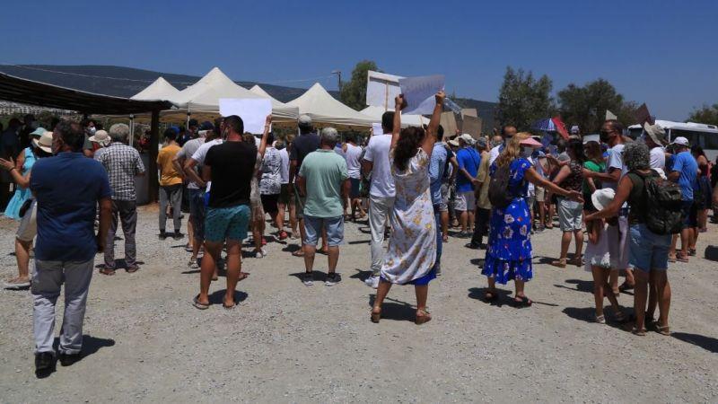 İasos'ta ÇED bilgilendirmesinde protesto