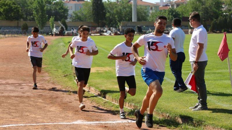 Sporcular 15 Temmuz Demokrasi Günü için yarıştılar