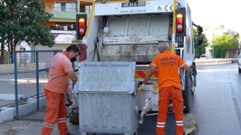 Milas Belediyesi bayramda yoğun çalışıyor
