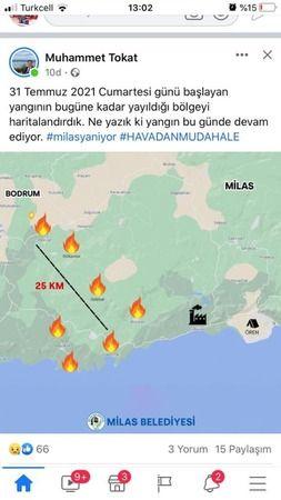 Yangın geniş bir alanda devam ediyor