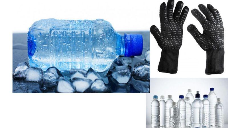 Yangınla mücadeleye buz, su ve yanmaz eldiven ile destek verebilirsiniz