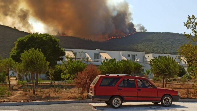Kıyıkışlacık yangını yerleşimi tehdit ediyor