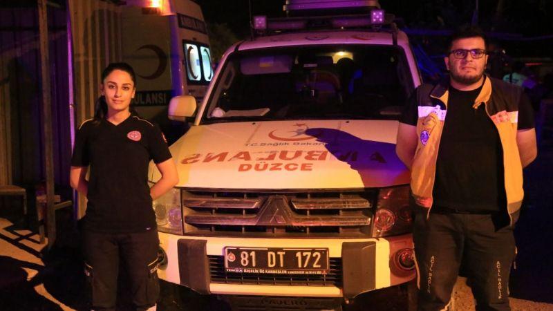 Sağlıkçı çift Milas'ta ekip arkadaşlarıyla hayat kurtarıyor