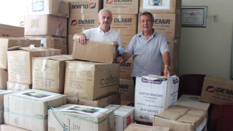 Yardım paketleri yangın bölgelerine gönderildi