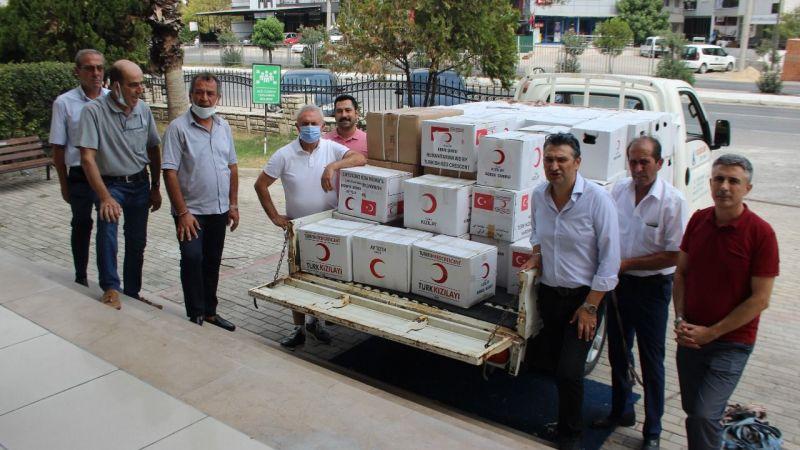 Gebze'den Milas'a yangın desteği