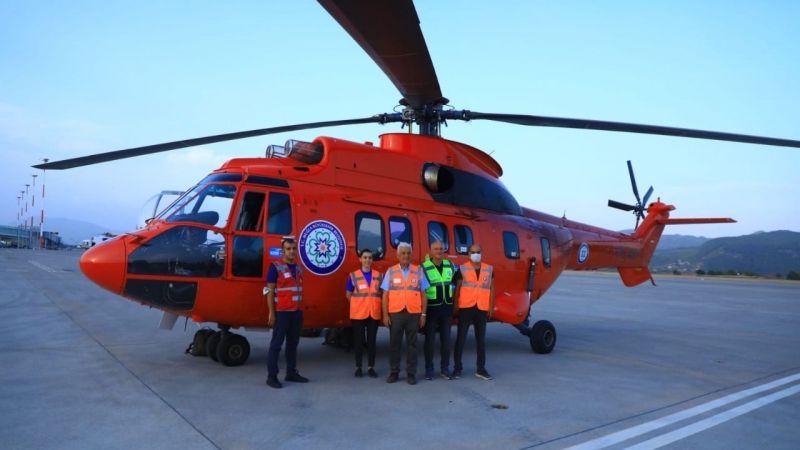 Büyükşehir, 4.5 ton su kapasiteli helikopter getirdi