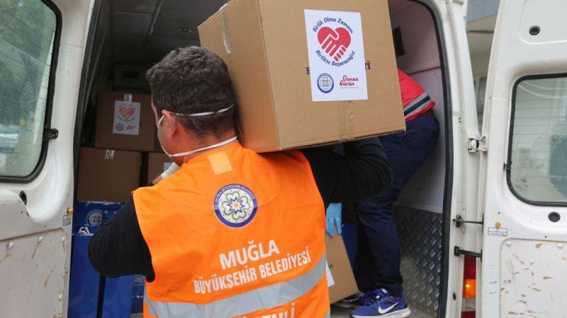 Büyükşehir'den yangın mağdurlarına destek