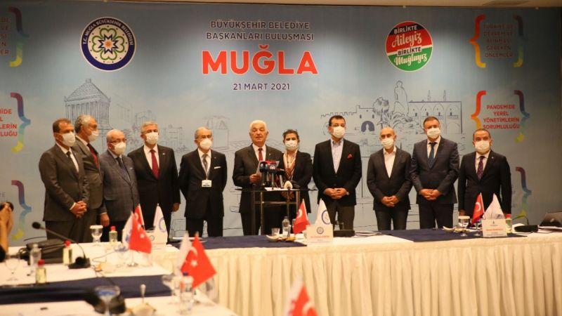Büyükşehir Belediye Başkanları ve Kemal Kılıçdaroğlu Muğla'da