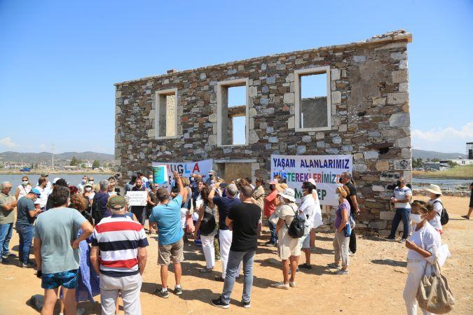 Ağaoğlu'nun Milas'taki projesine itiraz eylemi