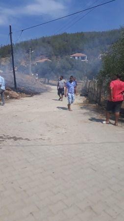 Yangına mahalleli müdahale etti