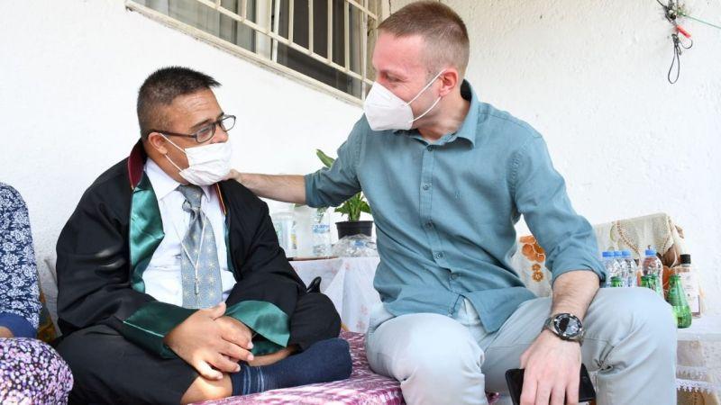 Milas Kaymakamı Böke, Başkan Serkan'ı ziyaret etti
