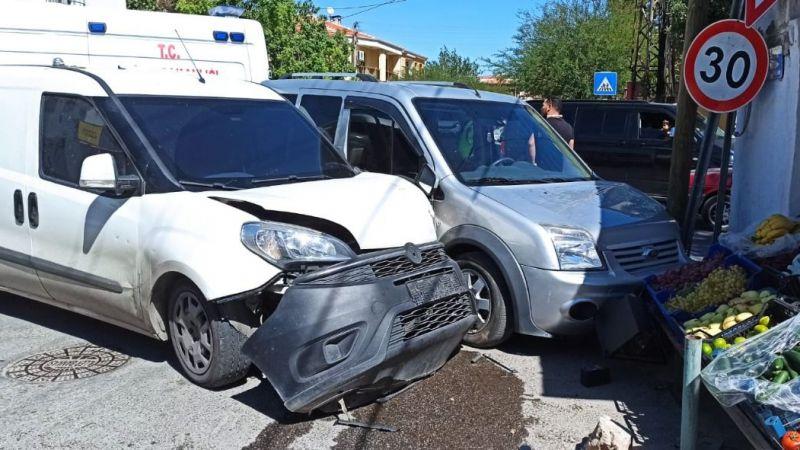 Okul çıkışında korkutan kaza...