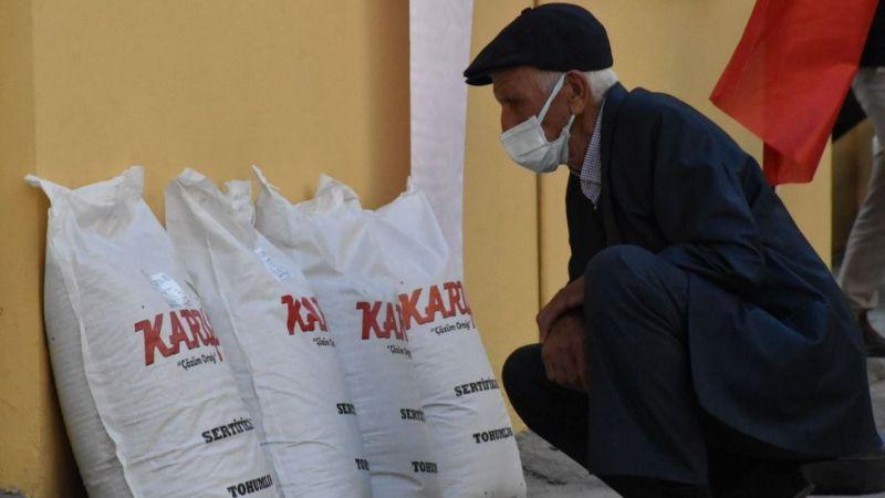 Milas'ta 7 ton yem bitkisi dağıtıldı